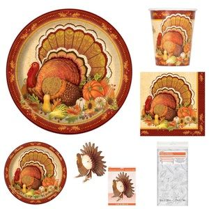 Thanksgiving Plates Napkins Cups Tablecloth + more